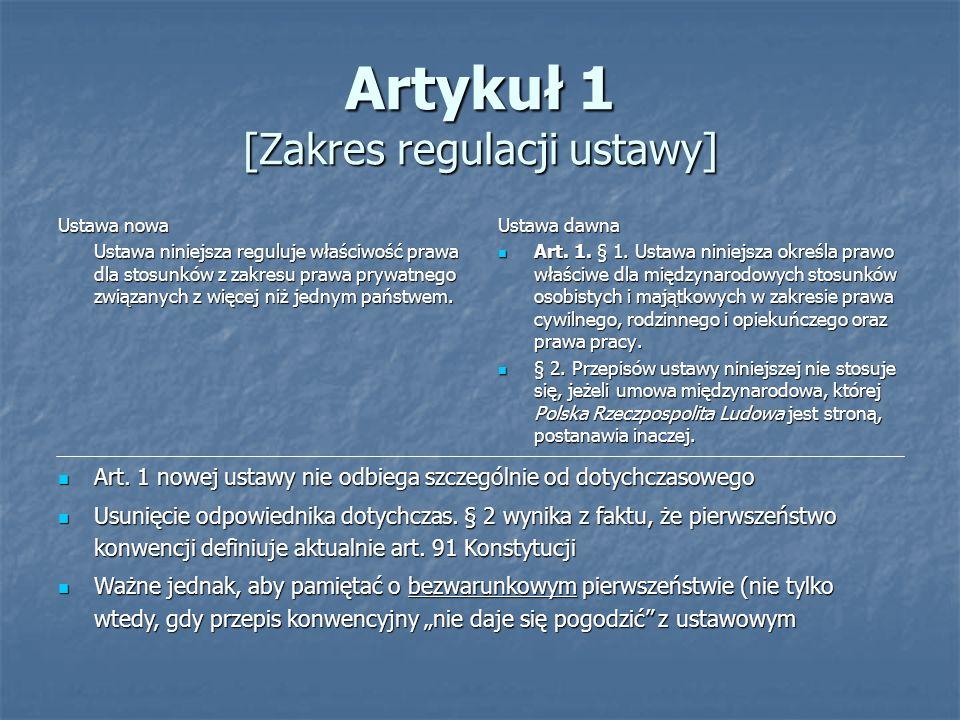 Artykuł 1 [Zakres regulacji ustawy]